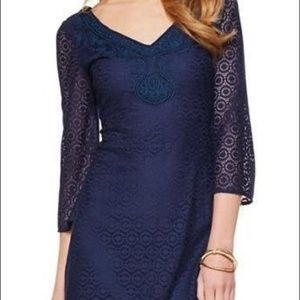 Lilly Pulitzer Navy Alden Lace Dress Size Small